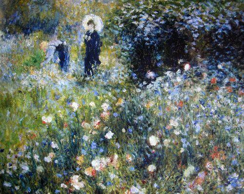 Renoir, Woman with a Parasol in a Garden