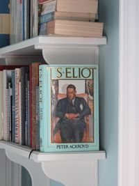 Bookshelves, TS Eliot, Ackroyd