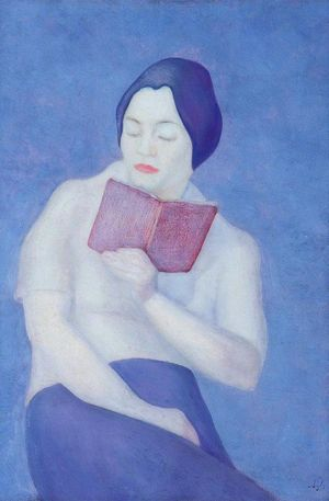 Lady reading a book, Reuss
