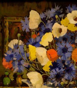 Flowers in a teapot, Sheringham