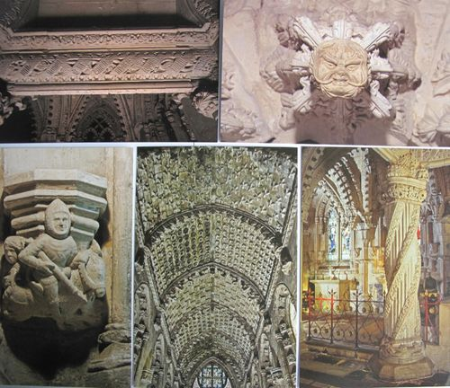 Rosslyn Chapel stone carvings