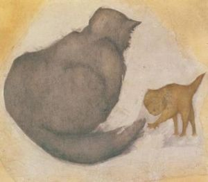 Burne-Jones, cat & kitten