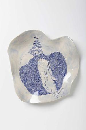 Stratus Swirl Platter, Anthropologie