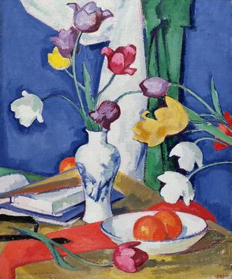 Tulips and fruit, Peploe