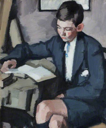 Boy reading, Peploe