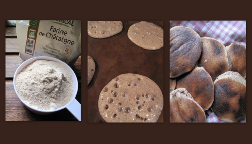 Chestnut flour pancakes