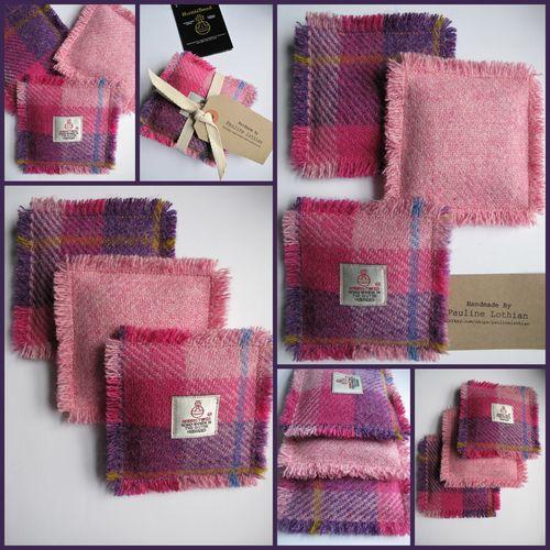 Harris tweed lavender sachets, Pauline Lothian Designs