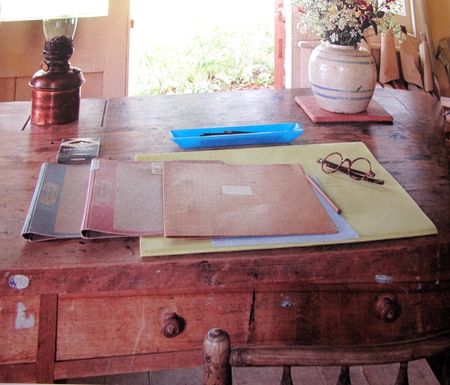 Virginia Woolf's desk, Monk's House