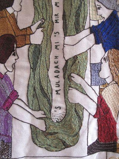 Tapestry, waulking the tweed