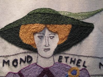 Tapestry, women's suffrage