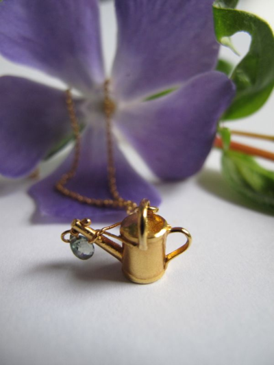 Alex Monroe watering can pendant