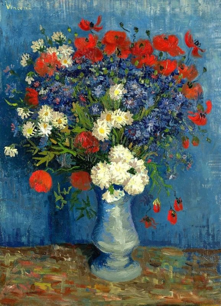 Van Gogh Cornflowers and Poppies