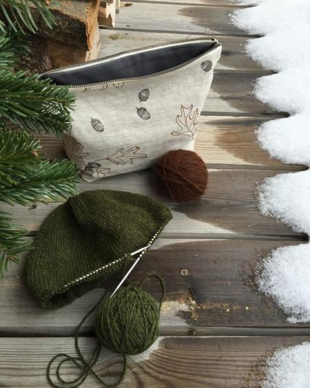 knitting, snow
