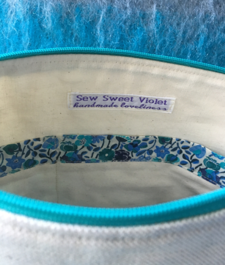 Sew Sweet Violet project bag
