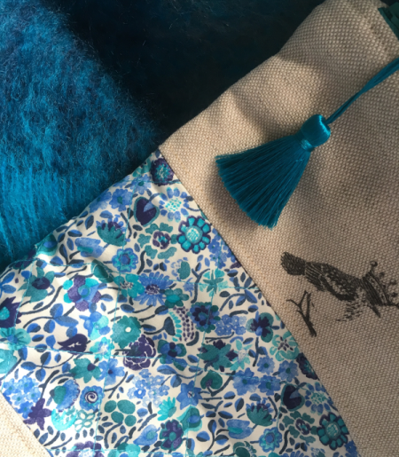 Sew Sweet Violet project bag