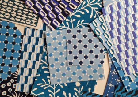 Cambridge Imprint blue papers