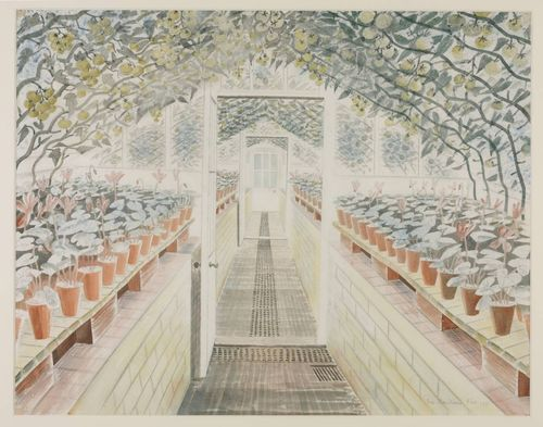 Ravilious, The Greenhouse, Cyclamen and Tomatoes