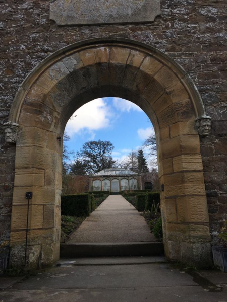 Abbotsford, entrance to the walled garden