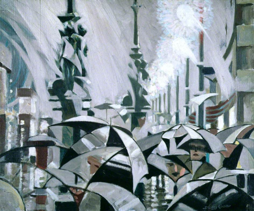 Rain on Princes Street, Stanley Cursiter