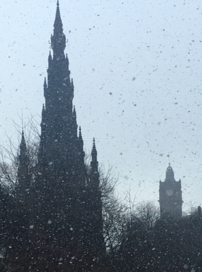 Edinburgh, snow