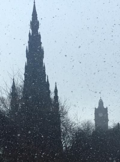 Edinburgh, snow