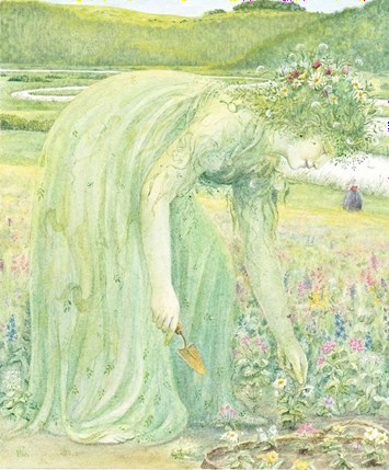 The-first-thing-she-saw-there-was-the-green-woman-planting-flowers Angela Barrett