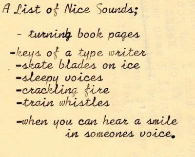 A list of nice sounds