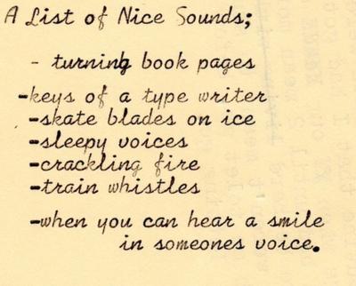 A list of nice sounds