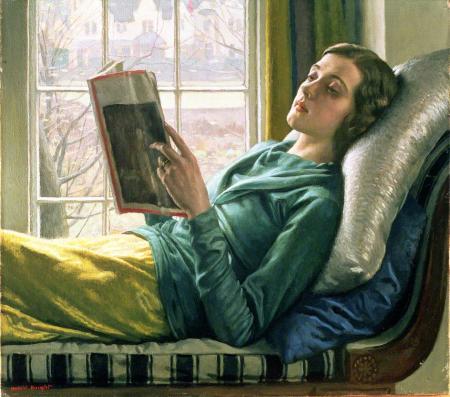Girl Reading Harold Knight
